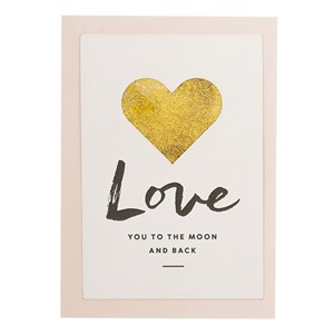 Love You To The Moon And BAck, Glitter Card