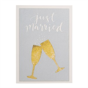 Just Married, Glitter Card