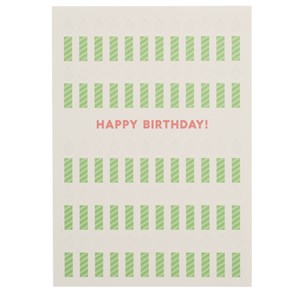 Happy Birthday, Candles Letterpress Card