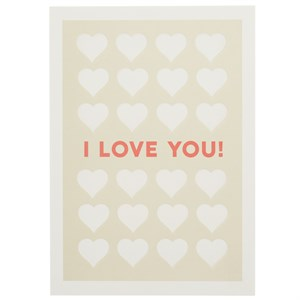 I Love You, Love Letterpress Card