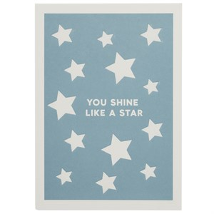 You Shine Like A Star, Star Letterpress Card