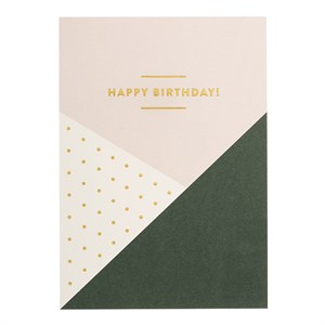 Geometric Happy Birthday postcard