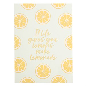 If life gives you lemons postcard