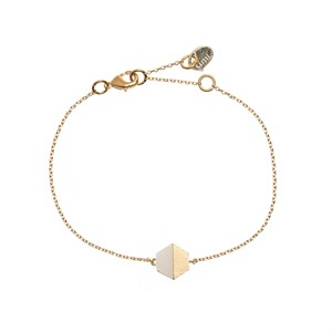 Hexagon w/stone BR., gold