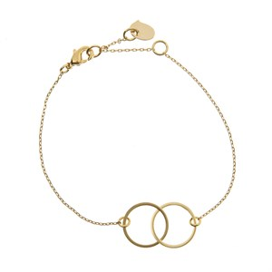 Double Circle Bracelet Gold plated
