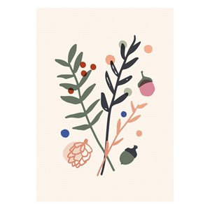 Branches Rose Gold Postcard
