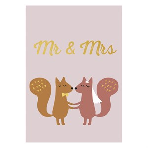 Mr. and Mrs. Gold Postcard