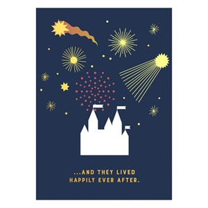 Happily ever after Gold Postcard