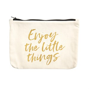 Canvass Pouch Metallic-Enjoy 902-Gold