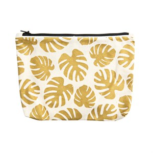 CanvassPouch Metallic-Monstera 902-Gold