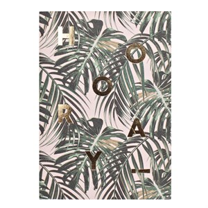 Small Greeting Card-Hooray Palm Leaves