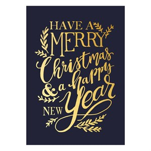 Small Greeting Card-Merry Christmas And Happy New Year