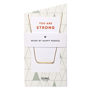 You are strong Bar Necklace