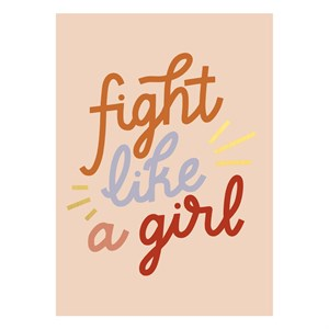 Fight Lika a Girl Postcard