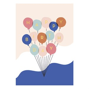 Small Greeting card-Happy Birthday