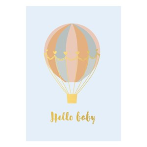 Small Greeting Card-Hello Baby Balloon