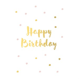 Small Greeting Card-Happy Birthday Confetti