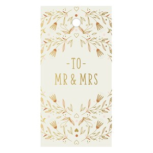 Gift Tag-Mr & Mrs Flowers