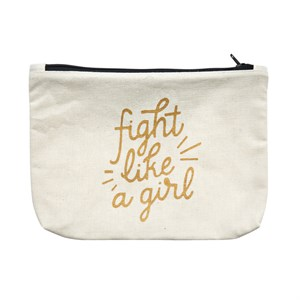 Canvass Pouch-Fight Like A Girl