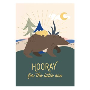 Small Greeting Card-Hooray for the Little One