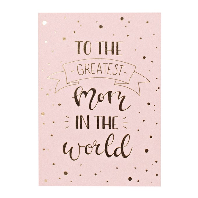 Small Greeting Card Greatest Mom In The World