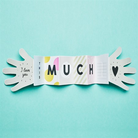 I love You this much, Hand Stretch Greeting card