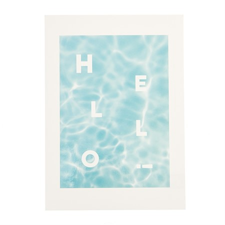 Hello Water Laminated Postcard
