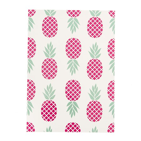 Pineapples laminated postcard