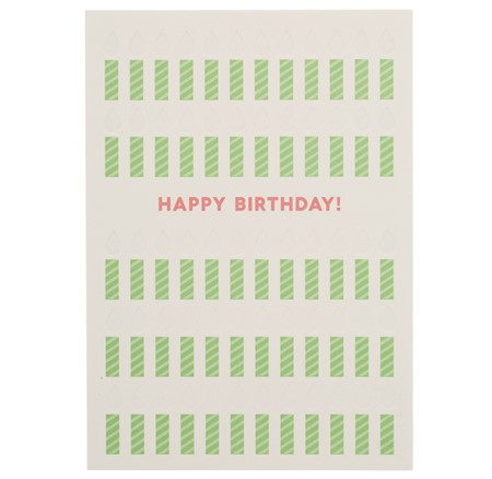 Happy Birthdy Candles Letterpress Card