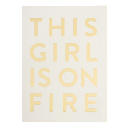 This Girl is on Fire Postcard