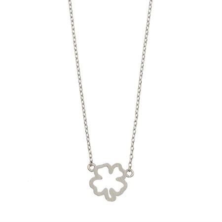 Four Leaf Clover Necklace Silver