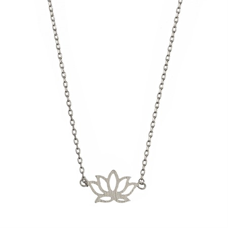 Halsband med lotus Silver