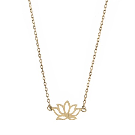 Lotus Necklace Gold