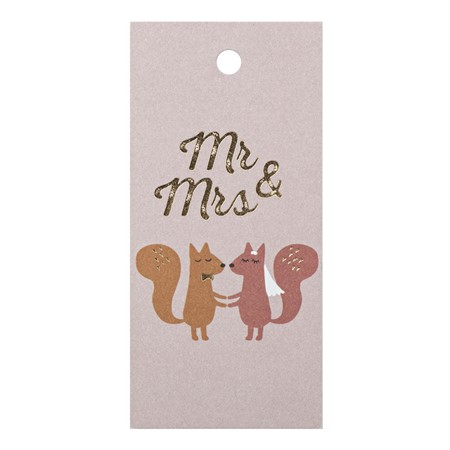 Mr. & Mrs. Gift Tag