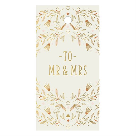 Mr & Mrs Flowers Gift Tag