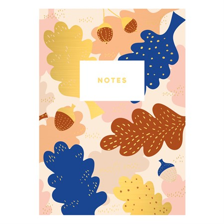 Leaf and Acorn Notebook