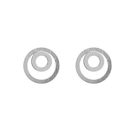 Two Circle Earrings Silver