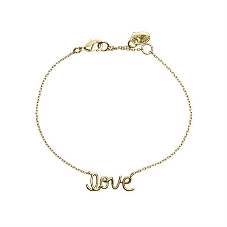 "Armband med ""Love"" text Guld"