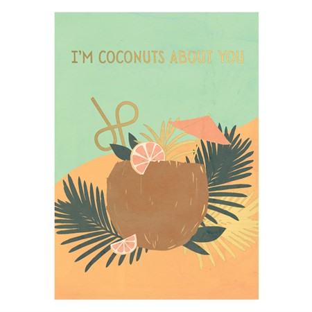 Vykort I'm Coconuts About You